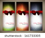 three christmas cards  with a... | Shutterstock .eps vector #161733305
