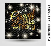 black friday calligraphic... | Shutterstock .eps vector #161733515