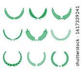 green realistic set of circular ... | Shutterstock .eps vector #1617339241