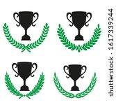 green realistic set of circular ... | Shutterstock .eps vector #1617339244
