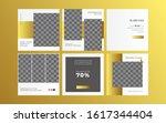 fashion banner post promotion... | Shutterstock .eps vector #1617344404