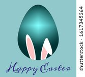 happy easter banner from the... | Shutterstock .eps vector #1617345364