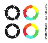 circle arrow simple colorful... | Shutterstock .eps vector #1617369847