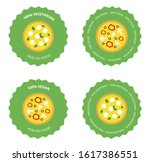 set of healthy pizza signs....   Shutterstock .eps vector #1617386551