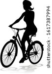 bicyclist riding their bike and ... | Shutterstock .eps vector #1617387994