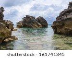 bermuda beach. tobacco bay area ... | Shutterstock . vector #161741345