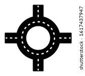 road junction icon design. road ...   Shutterstock .eps vector #1617437947