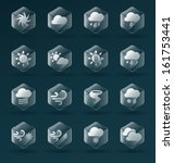 vector set  weather icons in a... | Shutterstock .eps vector #161753441
