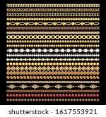 illustration set of gold chains ... | Shutterstock .eps vector #1617553921