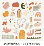 contemporary collage with hand...   Shutterstock .eps vector #1617569407