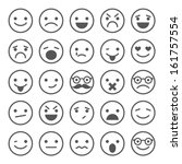 set of smiley icons  different... | Shutterstock .eps vector #161757554