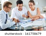 portrait of smart business... | Shutterstock . vector #161758679