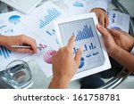 close up of businessman holding ... | Shutterstock . vector #161758781