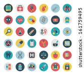 set of flat medical icons | Shutterstock .eps vector #161759495