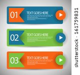 web banners with number options | Shutterstock .eps vector #161759831