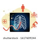 digonostic medical imaging in... | Shutterstock .eps vector #1617609244