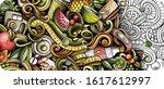diet food hand drawn doodle... | Shutterstock .eps vector #1617612997