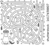 black and white maze game and... | Shutterstock .eps vector #1617658807