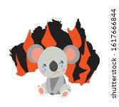 australia black silhoette.... | Shutterstock .eps vector #1617666844