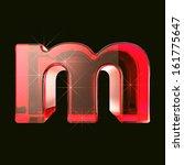 transparent ruby glare 3d... | Shutterstock . vector #161775647
