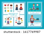 six designs  healthy lifestyle... | Shutterstock .eps vector #1617769987