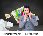 composite image of angry...   Shutterstock . vector #161780705