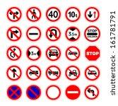 traffic signs vector... | Shutterstock .eps vector #161781791