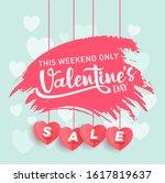 valentine's day sale offer ... | Shutterstock .eps vector #1617819637