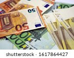 money  banknotes of fifty  one... | Shutterstock . vector #1617864427