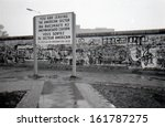 Stock photo october berlin the berlin wall berliner mauer in the tiergarten district of berlin 161787275