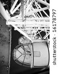 london eye cabins in black and...