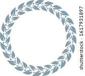 silver laurel wreath. vector... | Shutterstock .eps vector #1617931897