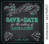 wedding invitation template.... | Shutterstock .eps vector #161793917