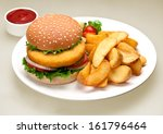 chicken burger | Shutterstock . vector #161796464