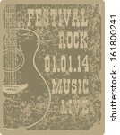 banner with an acoustic guitar... | Shutterstock .eps vector #161800241