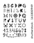 architectural font   Shutterstock .eps vector #161800949