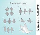origami paper cranes....   Shutterstock .eps vector #161802791