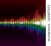 rainbow warped digital... | Shutterstock . vector #161807021