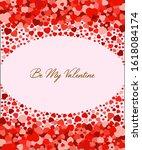 be my valentine vertical... | Shutterstock .eps vector #1618084174