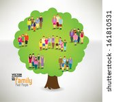 conceptual happy family tree... | Shutterstock .eps vector #161810531