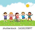 vector illustration of happy... | Shutterstock .eps vector #1618135897