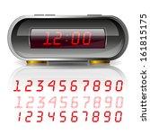digital clock | Shutterstock . vector #161815175