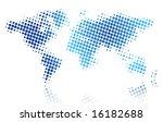 map of the world | Shutterstock .eps vector #16182688