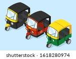 set of various auto rickshaw... | Shutterstock .eps vector #1618280974