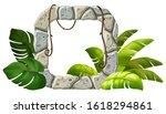 stone board decoration liana...   Shutterstock .eps vector #1618294861