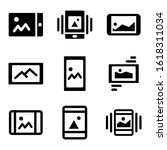 mobile gallery icon isolated...