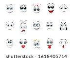 cartoon expressions. cute face... | Shutterstock .eps vector #1618405714