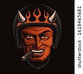 color illustration of a devil... | Shutterstock . vector #1618465681