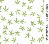hemp leaves. green leaves on... | Shutterstock .eps vector #1618479001
