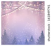 christmas background. vector... | Shutterstock .eps vector #161849741